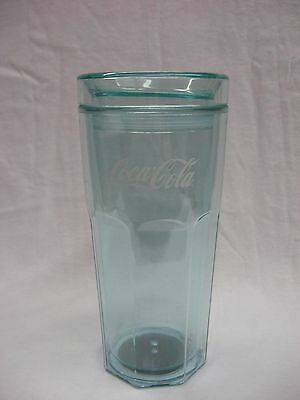 Coca Cola 16 oz Clear Green Tumbler - NEW