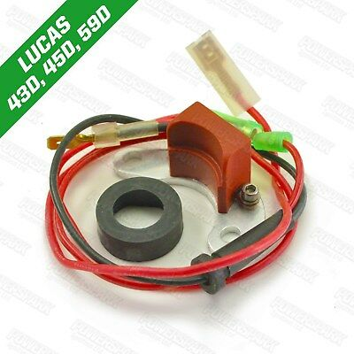 Electronic Ignition Kit 45D Lucas Distributor Mini Austin MGB etc by Powerspark