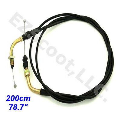 "Throttle Cable (S&g) 78"" 200Cm 4 Stroke Gy6 Chinese Scooter Taotao Jonway Roketa"