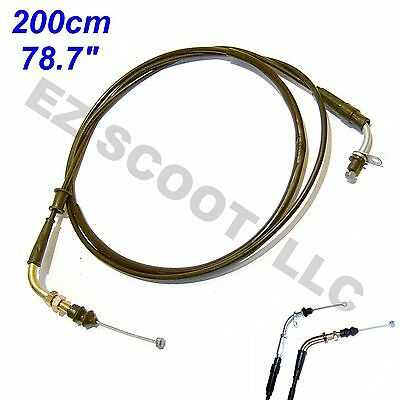 "Throttle Cable P. 78"" 200Cm Gy6 4Stroke Chinese Scooter Roketa Vip Jonway Taotao"