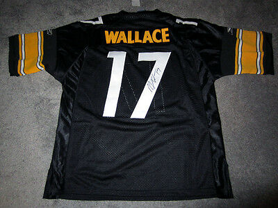 473cf7a6ae4 MIKE WALLACE Pittsburgh Steelers Autographed SIGNED Jersey w/ COA NEW w/  TAG L