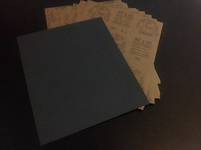 DEERFOS WET AND DRY SANDING PAPER SANDPAPER  GRITS 320-2000 PACK OF 10 FREE p&p
