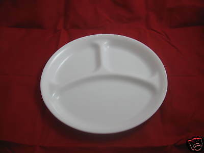 """4 New Corelle Winter Frost White Divided Plates 10-1/4"""""""