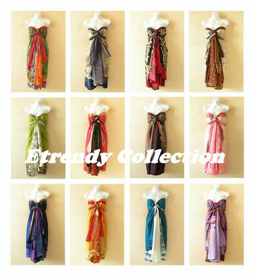 Wholesale Lot - 10pcs Vintage Silk Magic Wrap Skirt Halter Tube Maxi Dress +DVD