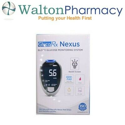 GLUCO RX NEXUS TD-4277 BLOOD GLUCOSE MONITOR meter Glucorx full starter kit