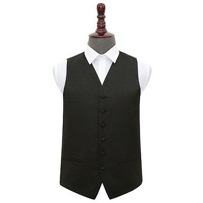 New Dqt Swirl Mens Wedding Waistcoat - Black