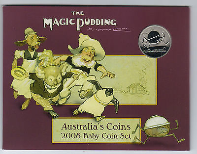 2008 RAM Uncirculated (UNC) 6 Coin Baby Mint Set (Magic Pudding Series)