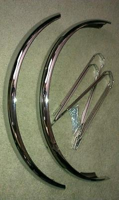 "Chrome Fender Set For 26"" Vintage Cruiser Bicycles,schwinn Middleweights, Nice"