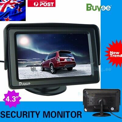 "4.3"" TFT LCD Car Reverse Rear View Color Security Monitor DVD VCR For Camera AU"