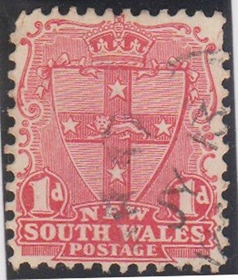 Stamp (A181) 1892 NSW 1d Red shield OW300