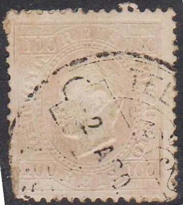 (W42)1870 Portugal100rVariety AlbinoColour not Recorded