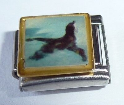 PENGUIN Italian Charm - Swimming Bird - fits ALL 9mm Classic Starter Bracelets