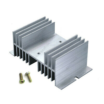 Heat Sink For SSR Solid State Relay 25A 40A 50A 60A 70A 80A Up to 100A Silver