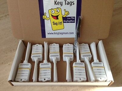 Car Key Tags X 200 Self Tie To Identify your Vehicles Car,Caravan,commercial Etc