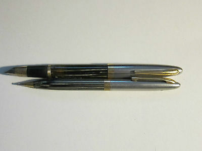 COLLECTION LOT OF 2 SHEAFFER PENS: FOUNTAIN PEN WITH 14K GOLD NIB & MECH. PENCIL