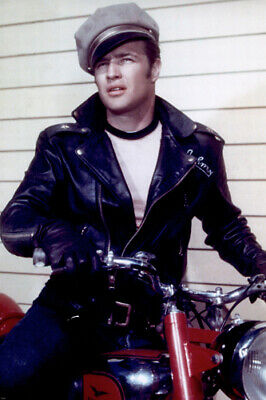 THE WILD ONE MARLON BRANDO poster SEXY unaffected LEATHER jacket NEW 24X36