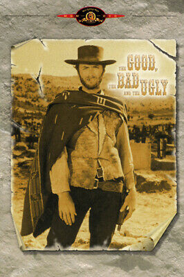 THE GOOD THE BAD & THE UGLY movie poster CLINT EASTWOOD tough WESTERN 24X36
