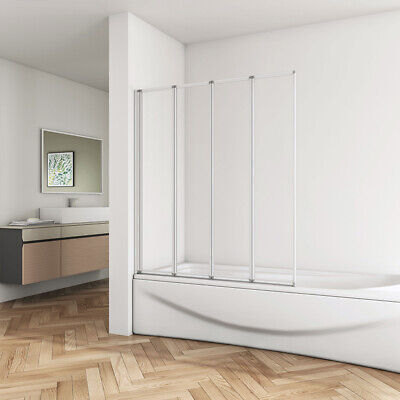 4 Folds and 5 Folds Chrome Bath Shower Screen Door Panel Nextday Delivery