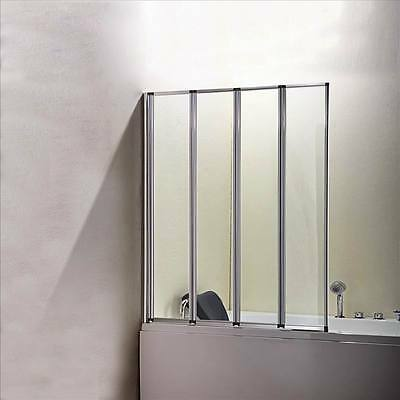 1000x1400mm 4-Fold Folding Shower Bath Screen Door Panel Nextday Delivery FF10