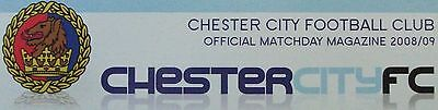 Chester Home Programmes 1964-2009 *Choose Opponents*