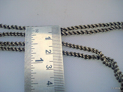 vintage antique ethnic tribal old silver chain pendant necklace rajasthan india