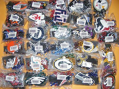 NEW NFL Mardi-Gras Style Logo Beads / Necklace with Pendant - ALL 32 TEAMS LEFT!