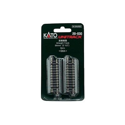 New Kato Unitrack 20-030 64Mm Straight Track 2Pcs