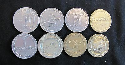 Lot of 8 Casino Chips Tokens Nevada with most Las Vegas