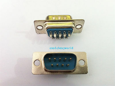 20pcs 9 Pin D-SUB Male DB9M Solder Type Connector DB9