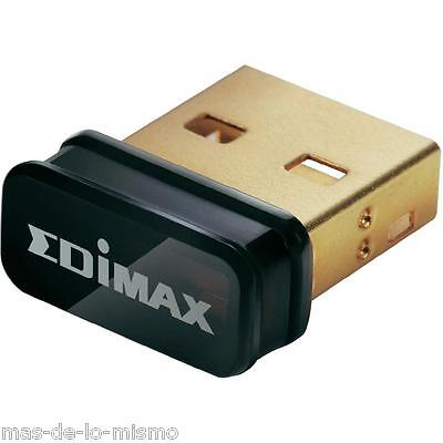 Adaptador Miniatura Inalambrico Edimax EW-7811Un USB 2.0 WiFi n Wireless 150Mbps