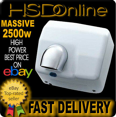 2300W White Automatic Electric Warm Air Hand Face Dryer