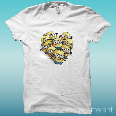 T-Shirt Minions Cattivissimo Me Bianco The Happiness Is Have My T-Shirt New