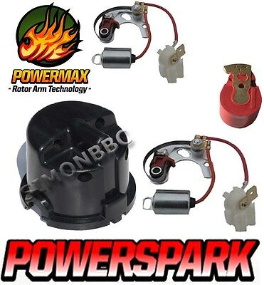 25D Distributor points and condensor side entry Distributor Cap & Red rotor arm