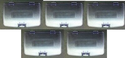 5 Wholesale  LOT of  Clear Purple  Game Boy Color Battery Lid  Covers