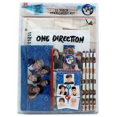 One Direction 2 'Crush' 11 Piece Stationery Set Brand New Gift