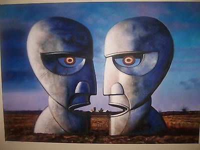 Pink Floyd Division Bell Oil Painting 40x28 not a print or poster. Box framed.