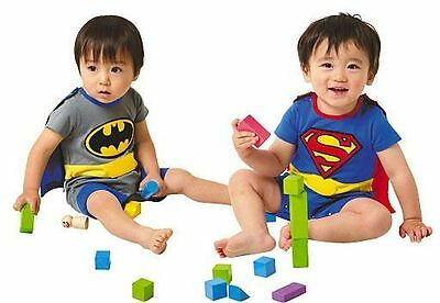 New Baby Boys Clothes Superman One Piece Jumpsuit Romper Size 00, 0, 1,2