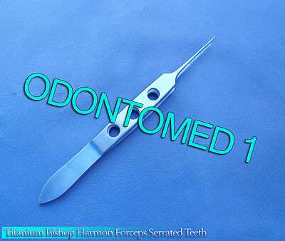 Bishop Harmon Forceps Serrated Teeth Titanium Surgical Instruments