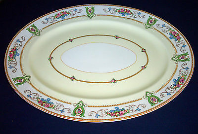"Pattern Rosalie by Myott/Staffordshire Royal Crown China 18 1/2"" Turkey Platter"