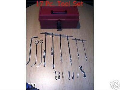 Pump Valve Mechanical Compression Packing Puller Extractor Tool Box Set 17 Pcs