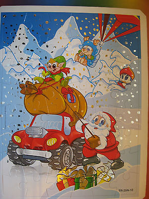 Puzzle Tr-25N-10  Babbo Natale 2012  + Cartina