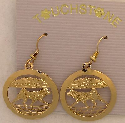 Shar Pei Jewelry Gold Earrings by Touchstone