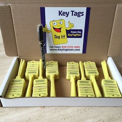 Car Key tags x 200 self tie to identify your vehicles,car,caravan,commercial,etc