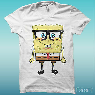 """T-Shirt """" Spongebob """" Film Vintage Bianco The Happiness Is Have My T-Shirt New"""