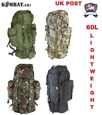 WATERPROOF BRITISH ARMY RUCKSACK BERGEN BACKPACK 60L KOMBAT UK BTP MTP or GREEN