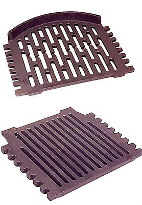 "Grant Triple / Round Flat Fire Grates-16""or18""Back Boiler-All Night Burner Grate"
