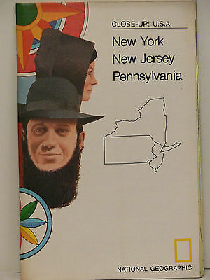 Vintage 1978 National Geographic Map of  New York, New Jersey, Pennsylvania