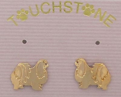 Japanese Chin Jewelry Small Gold Post Earrings by Touchstone