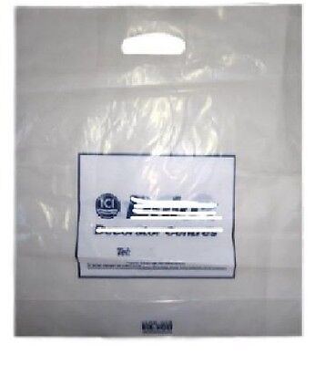 Misprinted Clear Plastic Carrier Bags Heavy Duty For Paint Shop Clothes Clothing