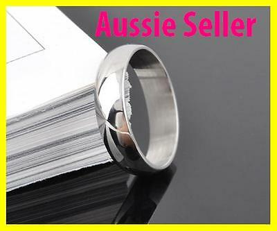 Uni Sex Plain Ring /Silver Stainless Steel Ring Size 9 10 11 8 7